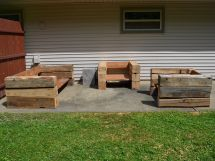 Outdoor Furniture Made From Reclaimed Wood