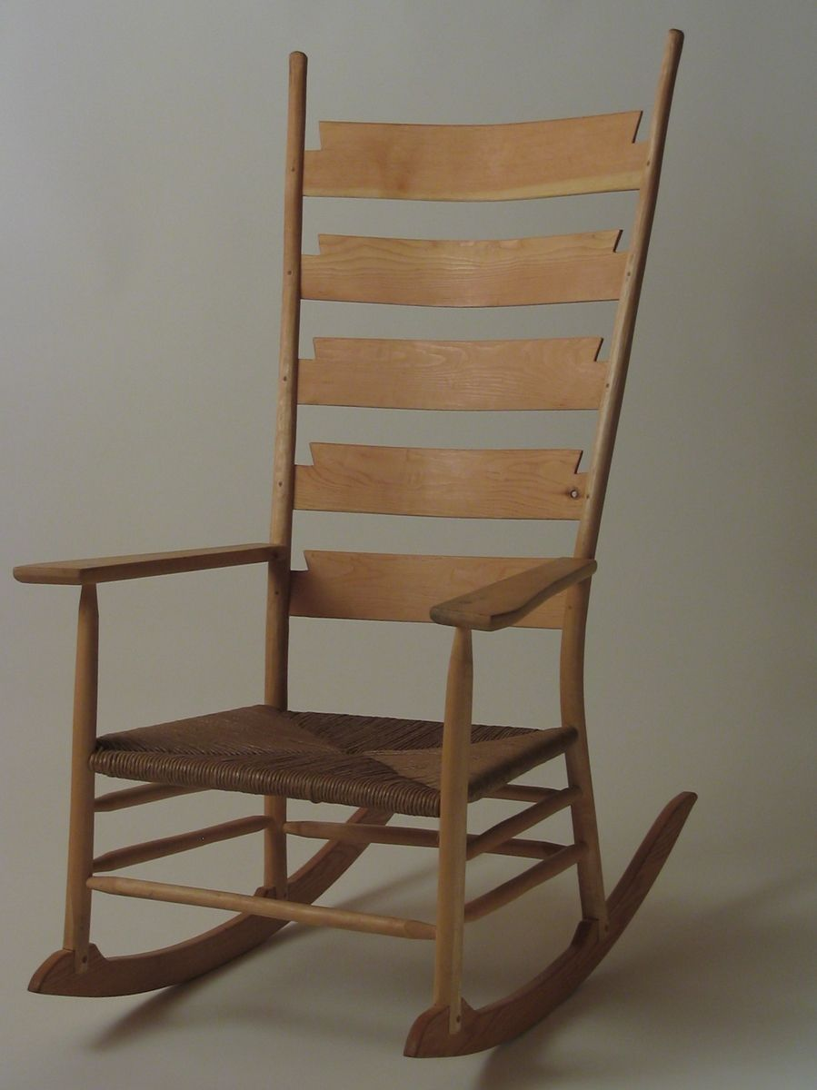 Custom Made Ladder Back Rocking Chair by Silvertree