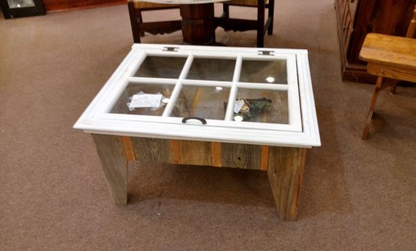 Custom Shadow Box Coffee Table Antique Window