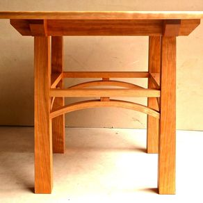 arts and crafts style chair bedroom with rail colors mission craftsman stickley cherry maple kitchen table by philip culbertson