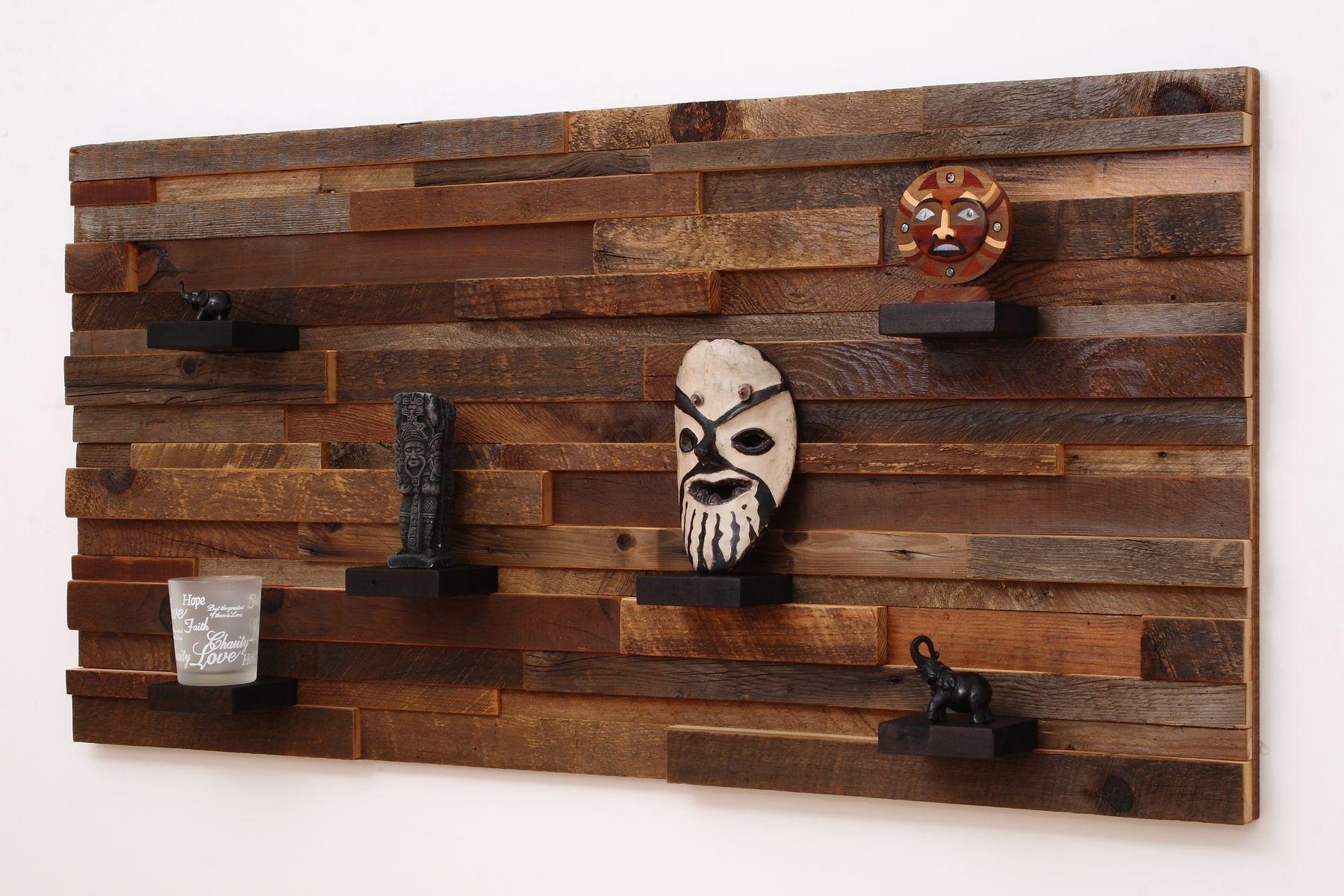 handmade wood wall art with wood shelves by carpentercraig
