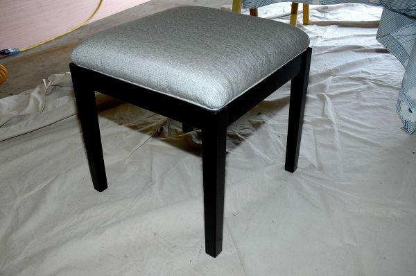 Custom Upholstered Vanity Stool by WoodenItBeNice