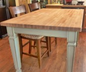 butcher block kitchen table