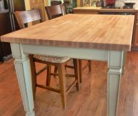 Hand Made Butcher Block Kitchen Table by Parker Custom ...