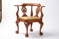 Handmade Chippendale, Mahogany Corner Chair by W. Mickey ...