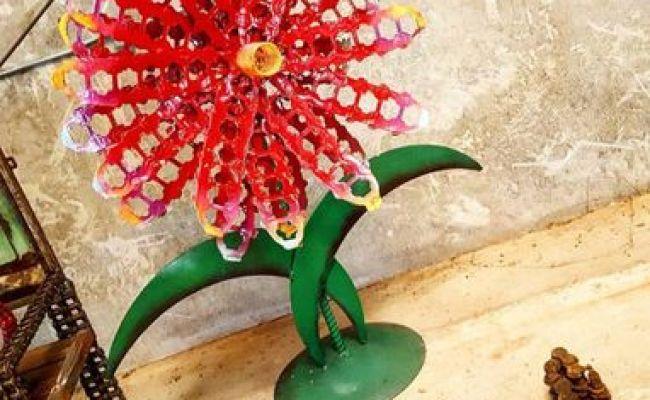 Buy A Handmade Large Metal Flower Outdoor Sculpture By