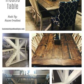 farmhouse kitchen tables cabinet layout dining custom custommade com trestle room table hand made live edge pine douglas fur stained