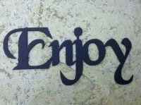 Hand Crafted Bath Word: Enjoy Metal Wall Art Home Bathroom ...