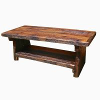 Buy a Custom Made Heart Pine Rustic Coffee Table, made to ...