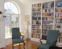 Hand Made Bookcase, Overmantle Window Seats by Custom Wood ...