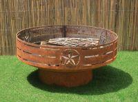 Buy a Custom Made Texas Fire Pit. Steel Firepit. Backyard ...