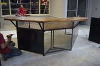 Hand Crafted Industrial Style Reception Desk by Light of ...