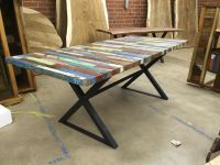Buy a Handmade Reclaimed Dining Table, Bali Boat Wood ...