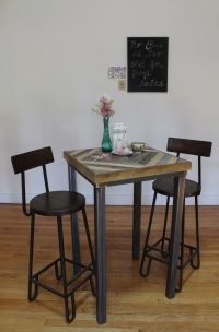 Buy a Hand Made Reclaimed Wood Pub And Kitchen End Table ...