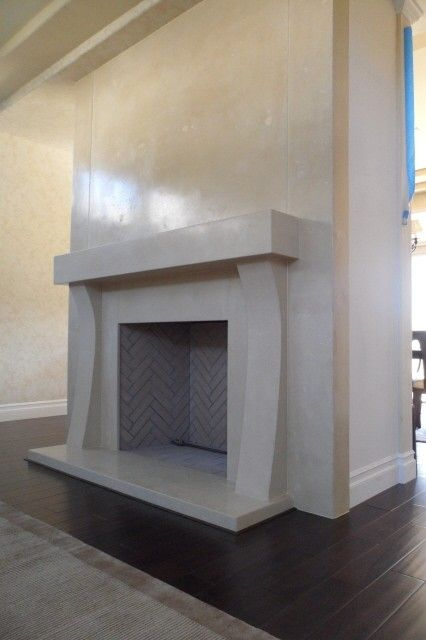 Hand Made Concrete Fireplace Surround by Stonenv