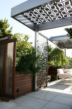 Hand Made Chicago Custom Pergola Steel Screen Sun Shade By