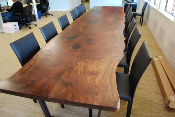 Walnut Slab Table Conference