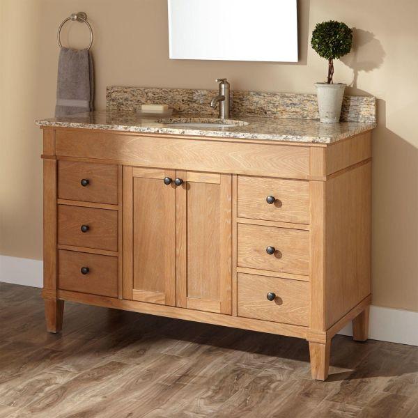 Custom White Oak Furniture Vanity . Cabinetry