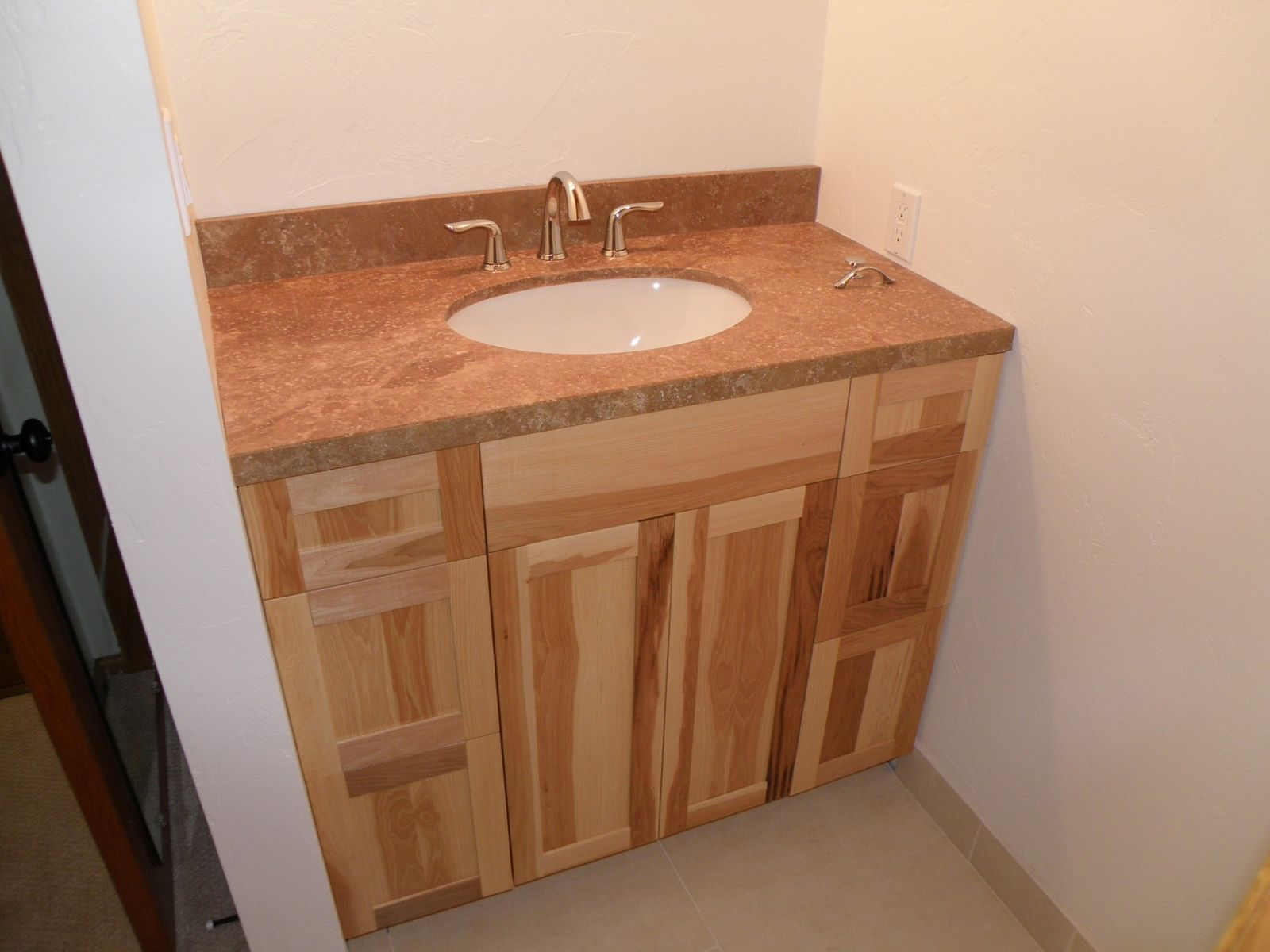Custom Made Hickory Vanity by Wood Wise Productions  CustomMadecom