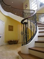 Custom Curved Free Standing Stair by Master Woodworks, Inc ...