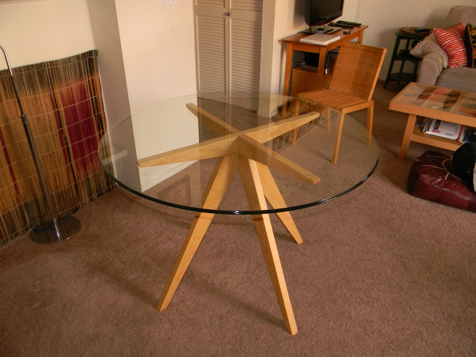 kitchen table base affordable sets hand made ibi s for glass top dining by antikea custom