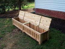 Hand Custom Western Red Cedar Patio Storage Bench