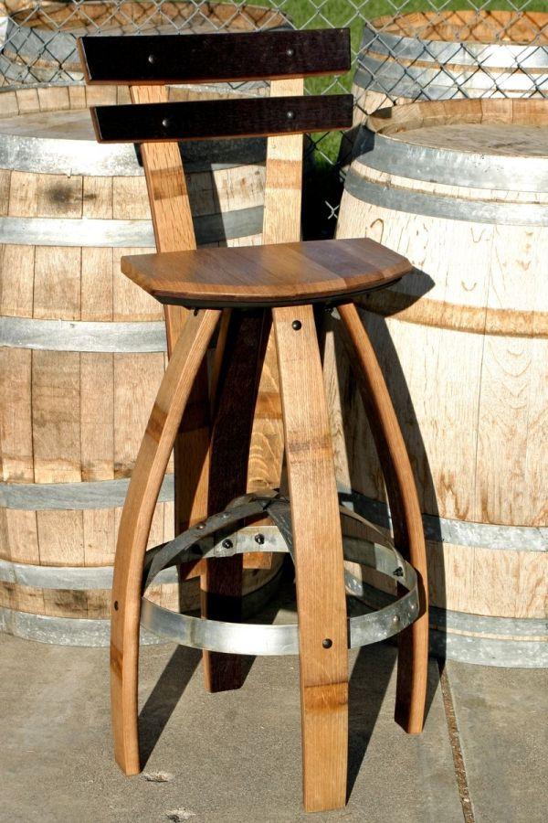 Custom Bar Stool With Backrest In Oak