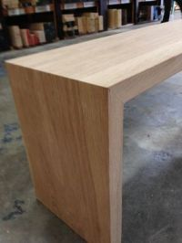 Custom Made White Oak Waterfall Bench by House Of Hardwood ...