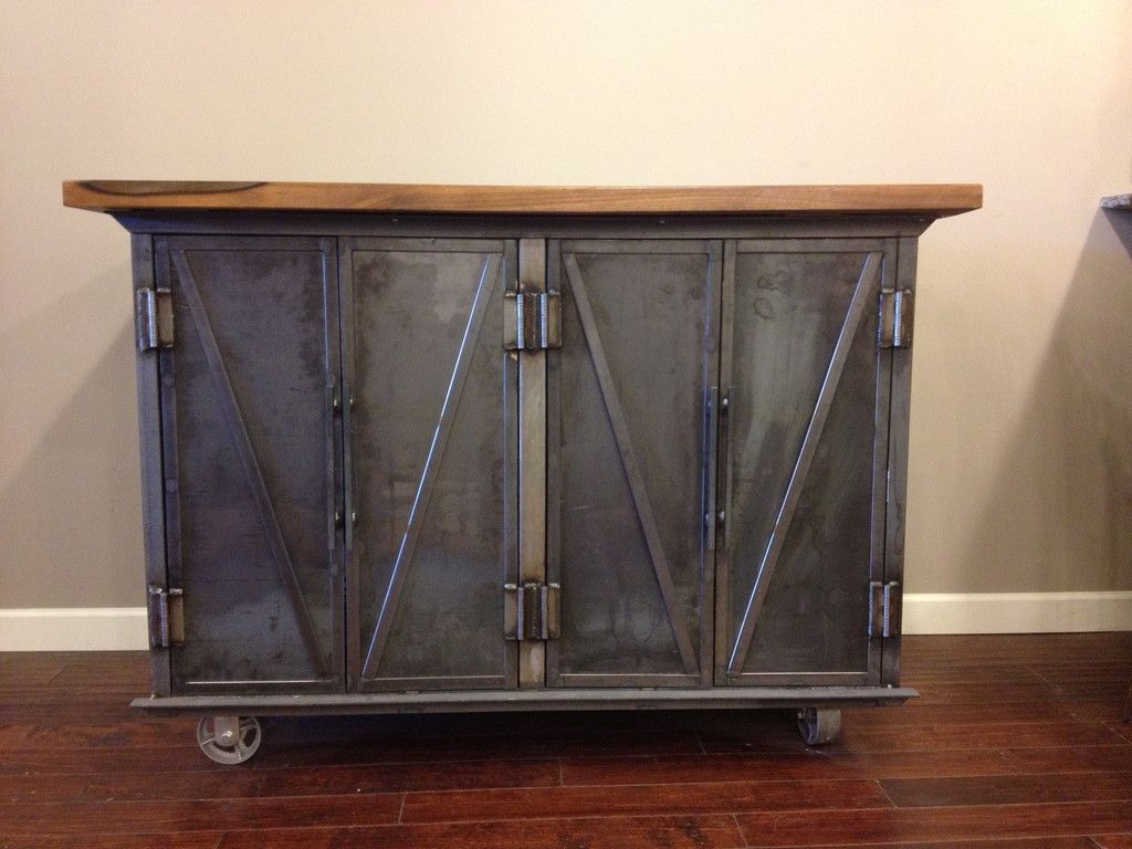 Custom Steel Coffin Media Console By EPIC Industrial