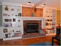 Custom Bookshelves Flanking A Fireplace by Atlanta ...