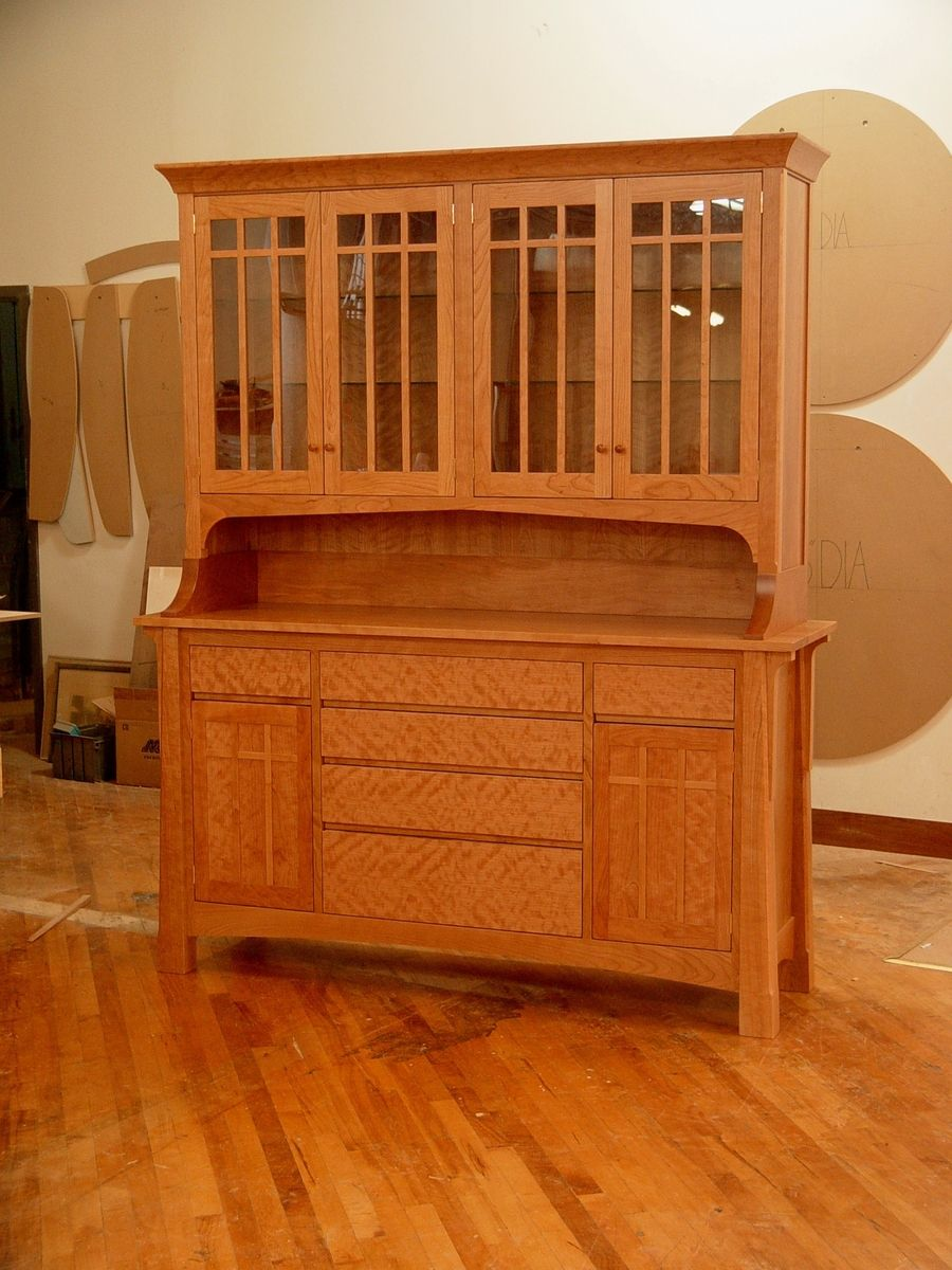 kitchen cabinet doors with glass fronts equipment rental los angeles hand crafted cherry hutch by kirk custom furniture ...