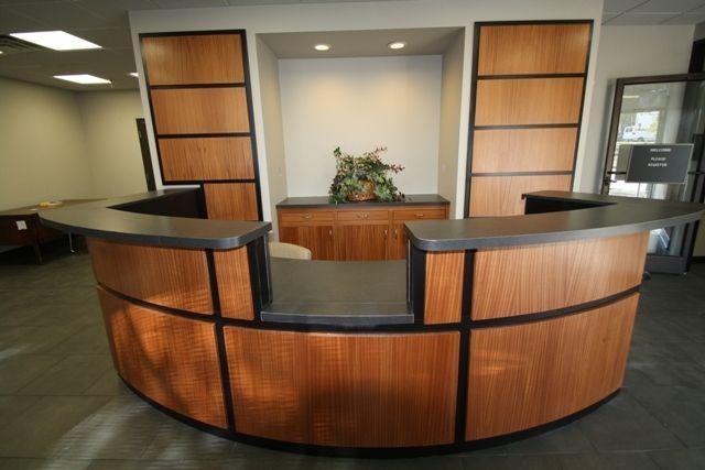 Custom Made Reception Desk By C N C Custom Cabinets