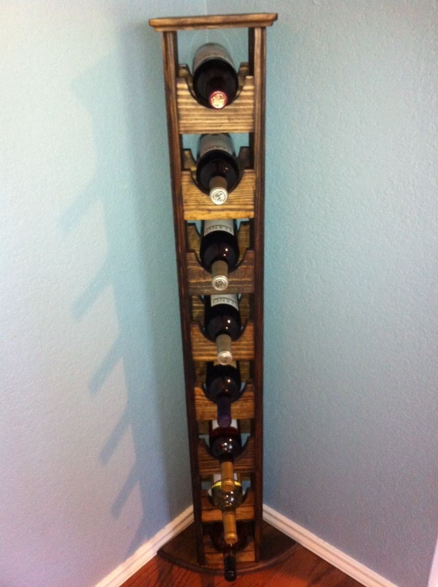 Buy A Hand Crafted Tall Skinny Wine Rack Made To Order