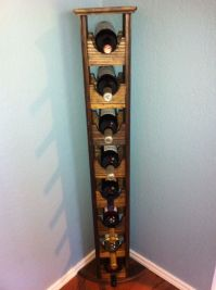 Buy a Hand Crafted Tall Skinny Wine Rack, made to order ...