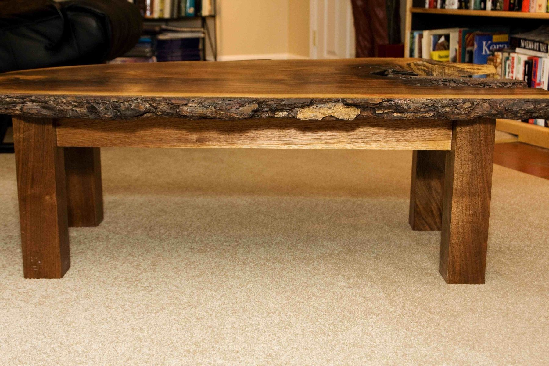 hand made walnut coffee table by design