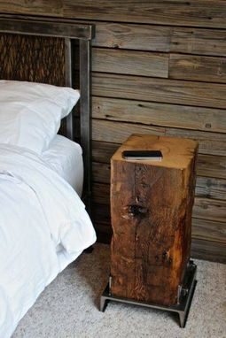 Buy a Custom Made Reclaimed Barn Beam Side Table made to order from Reclaimed Barns and Beams