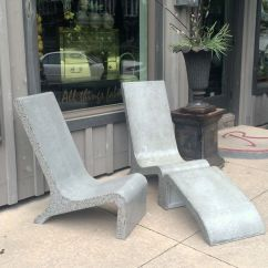 Metal Adirondack Chairs Parson Chair Covers Etsy Custom Made Concrete By Masonry And