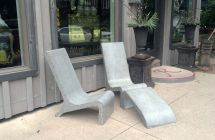 Custom Concrete Adirondack Chair Masonry And Metal