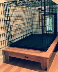 Hand Made Elevated Dog Crate Platform by Appalachian ...