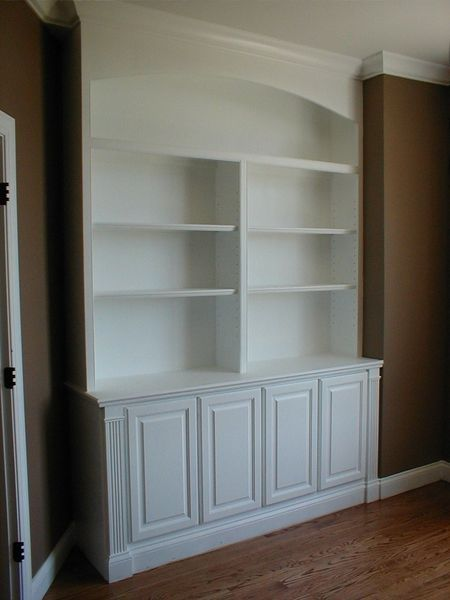 Custom Made Built In Bookcase And Cabinets by Norms