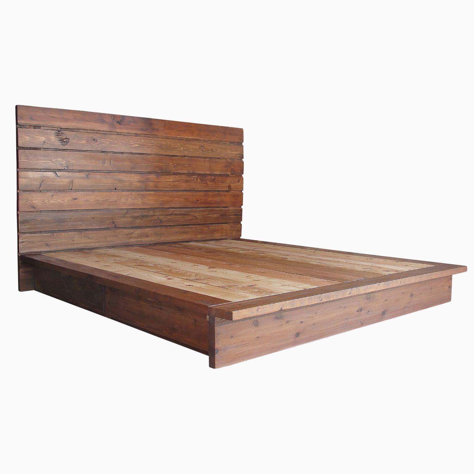 cedar platform bed by artisan wood