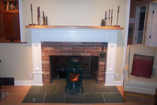 Hand Crafted Custom Fireplace Surround With Solid Cherry