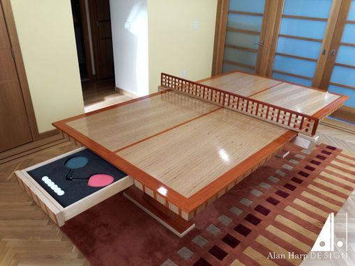 Custom Made Oak And Padauk Ping Pong Table By Alan Harp