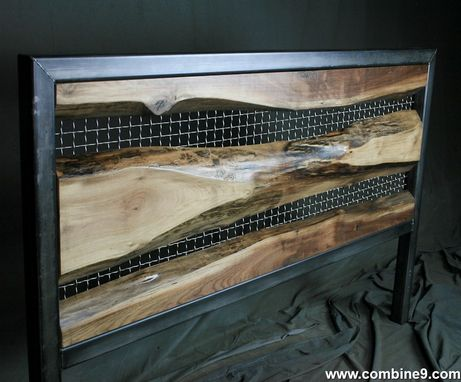 Buy a Hand Crafted Vintage Industrial Live Edge Headboard