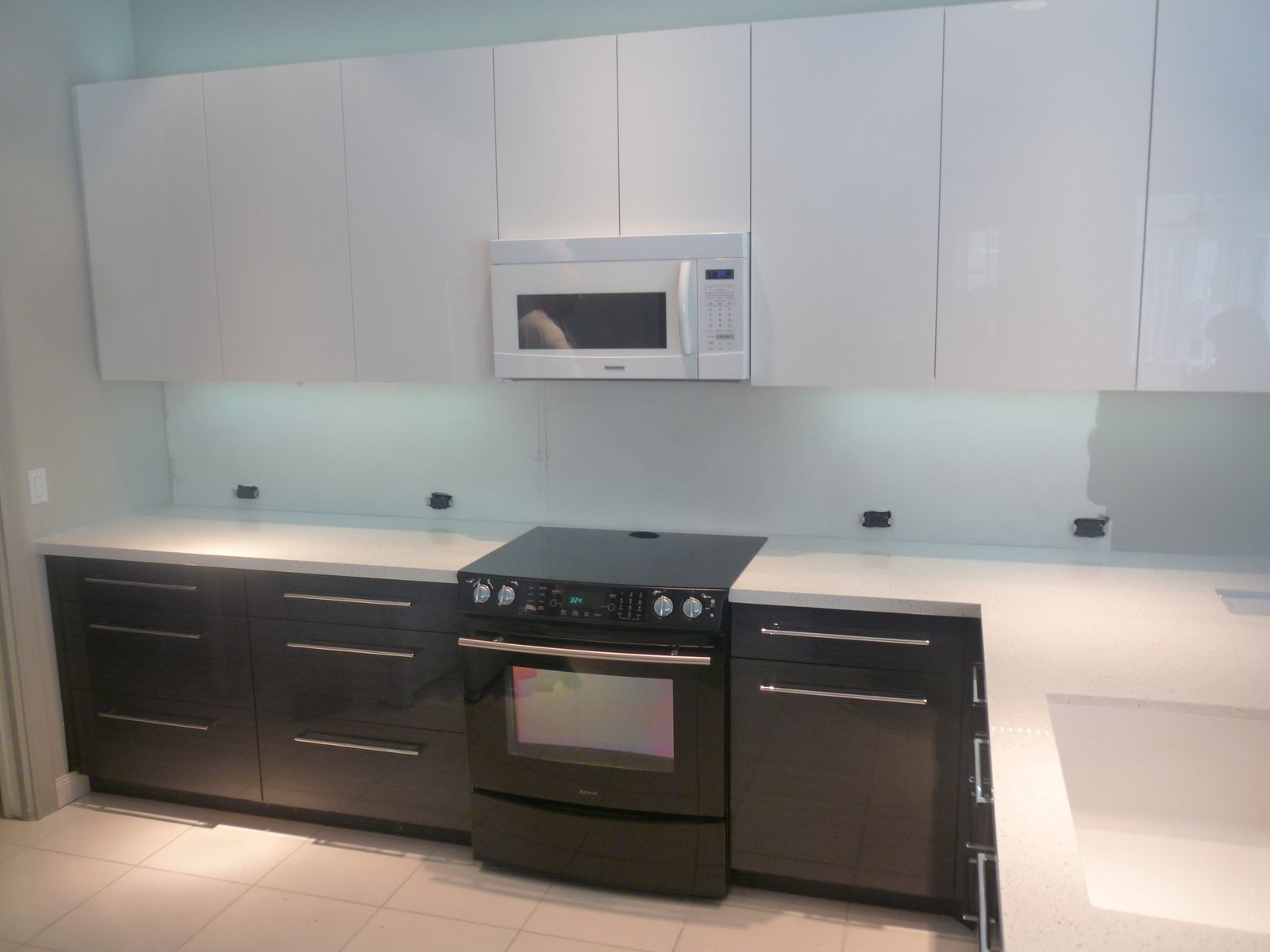 high gloss acrylic kitchen cabinets honest beams hand crafted contemporary by