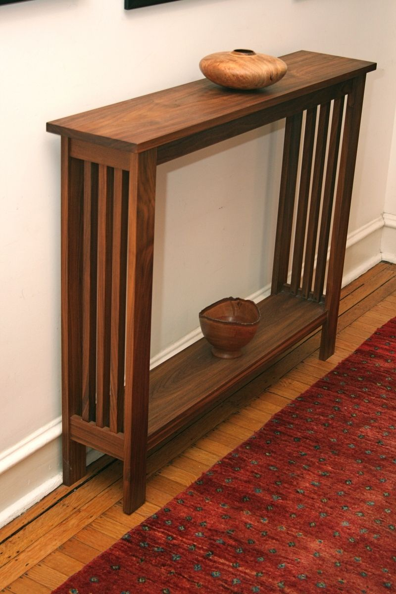 arts and crafts style chair nautica beach chairs mission craftsman stickley walnut hall table by fredric blum