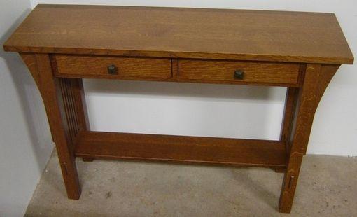 oak mission sofa table cheap black sets custom new solid quarter sawn white style ...