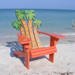 Custom Beach Chairs Fancy High Chair Hand Crafted Adirondack Palms Design By Island