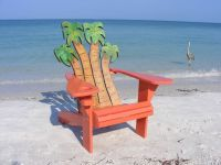 Hand Crafted Adirondack Chair - Palms Design by Island ...