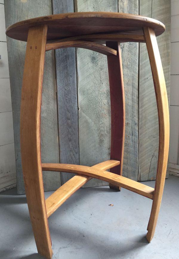 Hand Wine Barrel Bistro Table - Indoor